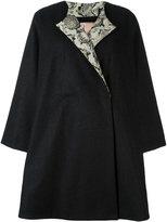 Antonio Marras back floral appliqué coat - women - Wool/Polyamide/Polyester/Viscose - 42