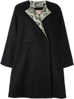 Antonio Marras back floral appliqué coat
