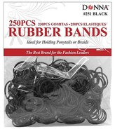 Donna Hair Rubber Bands 250 ct