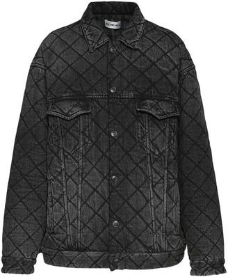 Balenciaga Quilted Denim Trucker Jacket