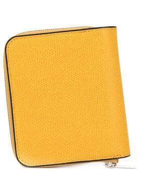 Valextra zip-around pebbled wallet