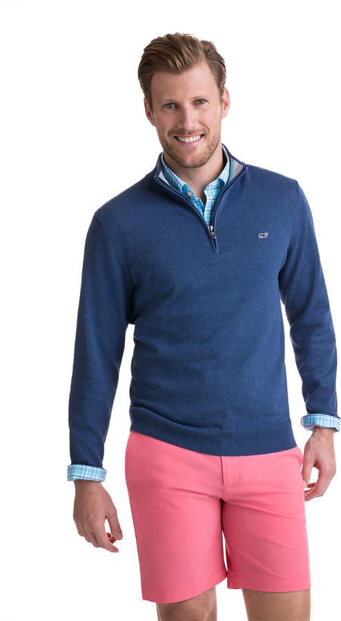 Vineyard Vines 1/4-Zip Mock Neck Sweater