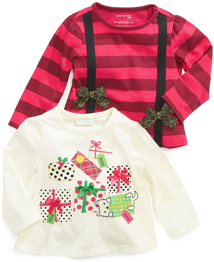 First Impressions Baby Shirts, Baby Girls Bow-Appliqued Tops