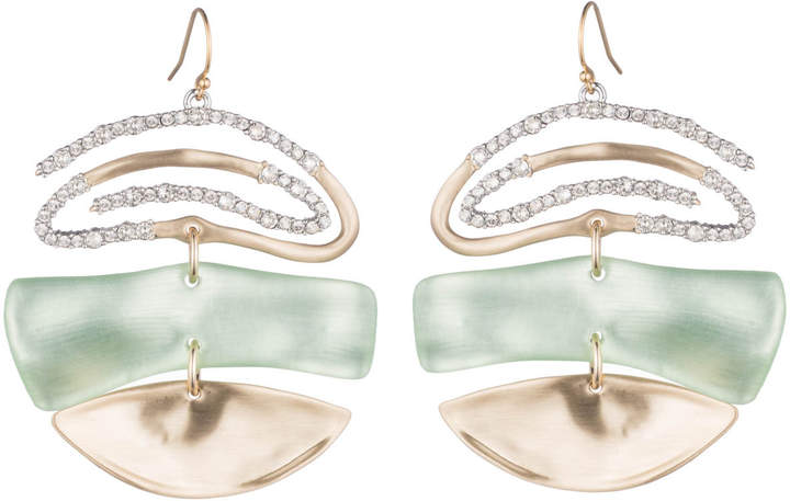 Alexis Bittar Crystal Encrusted Spiral Mobile Earring