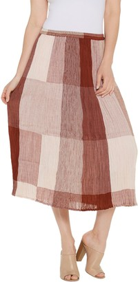Logo by Lori Goldstein Broomstick Pleated Cotton Gauze Skirt