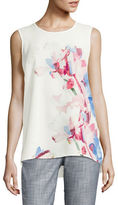 Vince Camuto Mixed-Media Flora Shell Top