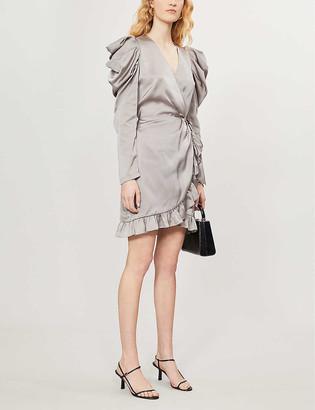Designers Remix Lauren ruched draped woven mini dress