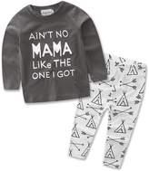 samgani baby Boys Sweater shirt toddler clothes kids long pajamas cotton sleepwear T-shirt boy set (18M-24M)