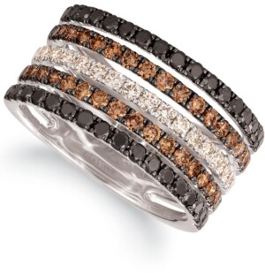 LeVian Le Vian Chocolate Layer Cake Blackberry Diamonds, Chocolate Diamonds & Nude Diamonds Statement Ring (1-5/8 ct. t.w.) in 14k Rose, Yellow or White Gold