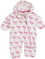 Hatley Baby Girls Newborn Fuzzy Fleece Bundler Soft , White, 6-12 Months