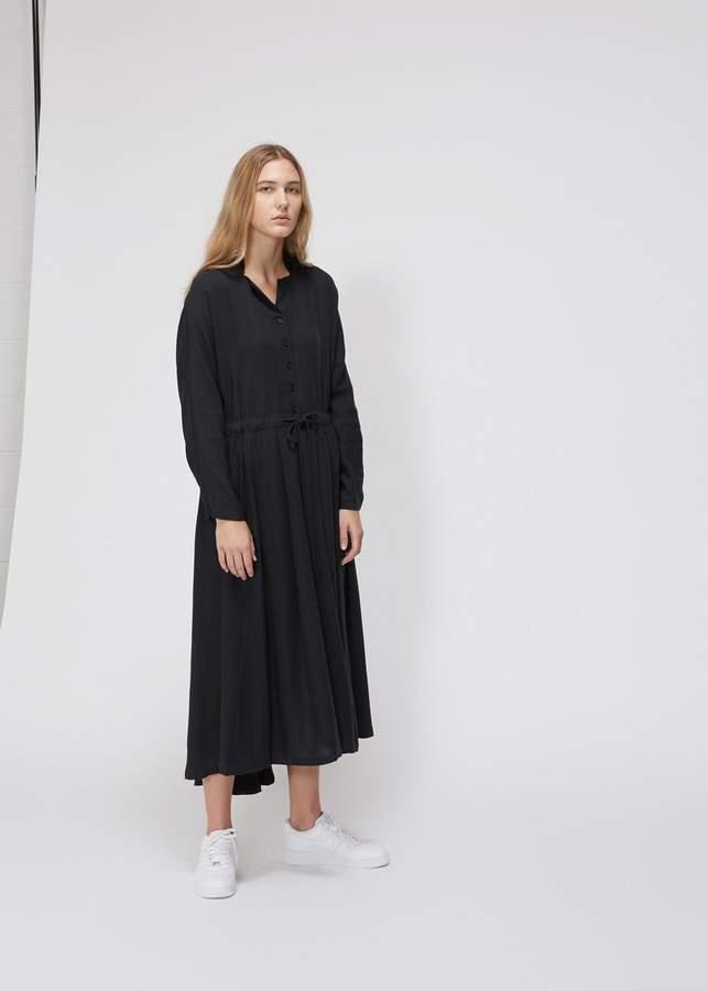 Black Crane Long Sleeve Classy Dress