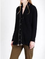 Alexander McQueen Zip-detail cashmere cardigan