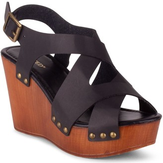 Wanted Adjustable Wedge Sandals - Elizabeth