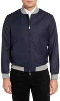 Eleventy Piana Linen & Wool Bomber Jacket