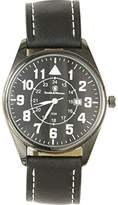 Smith & Wesson Men's SWW-6063 The Civilian Leather Strap Watch