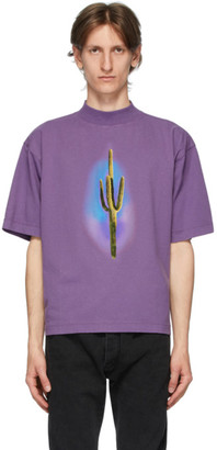 Palm Angels Purple Cactus T-Shirt