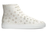 Simone Rocha Flower-embellished high-top trainers