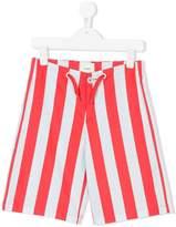 Fendi vertical stripe print shorts