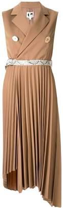 Comme Moi snake belt dress