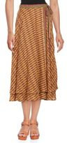 Free People Printed Wrap Maxi Skirt