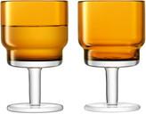 LSA International Amber Utility Wine Glasses, Set of 2