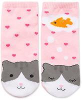 Forever 21 FOREVER 21+ Dreaming Cat Ankle Socks
