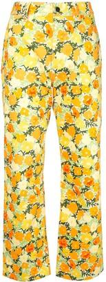 Simon Miller floral straight-leg jeans