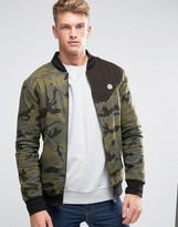 Le Breve MA1 Camo Sweat Zip Through