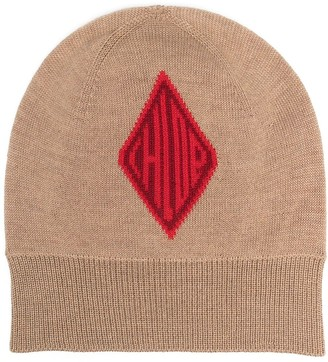Chloé Intarsia Knit Beanie Hat