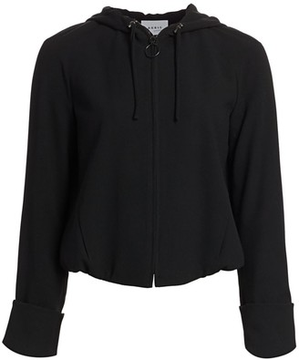 Akris Punto Hooded Wool Zip-Up Jacket