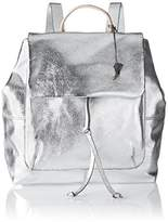 Clarks Totterdown Bay, Women's Backpack Handbag, Silber (Metallic Leather), 15 x 30 42 cm (wxhxd)