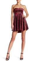 Free People Shattered Velvet Mini Dress