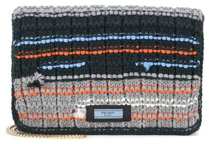 Prada Tricot wool clutch