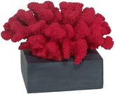 Three Hands Decorative Resin Coral, Red - Red