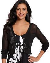 Tommy Bahama Women's Anacapa Crop Cardigan - Black Sweaters