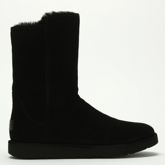 UGG Abree Short II Black Suede Ankle Boots