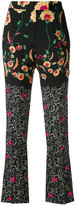 Etro floral cropped trousers - women - Viscose - 38
