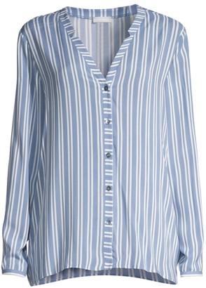 Hanro Sleep & Lounge Woven Long-Sleeve Shirt