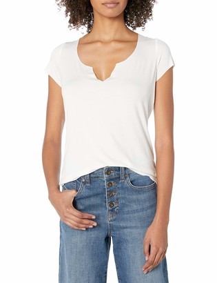 True Religion Women's Notched Back LACE TEE