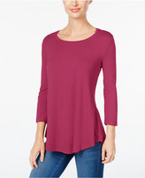 JM Collection Petite Three-Quarter-Sleeve Top, Only at Macy's