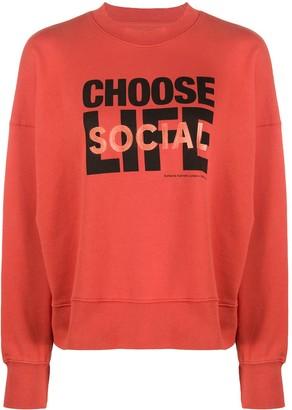 Wood Wood x Katharine Hamnett Choose Life sweatshirt