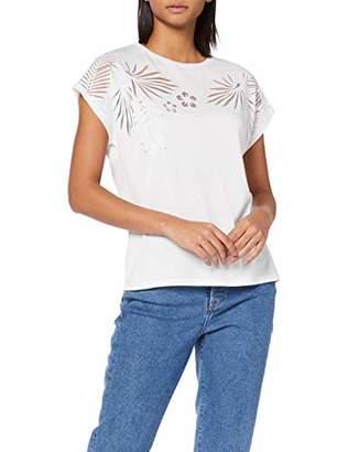 Mavi Jeans Women's Short Sleeve Top T-Shirt, (Chambray Blue 28388), (Size: S/)