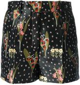 RED Valentino floral print tailored shorts - women - Polyester/Acetate - 36