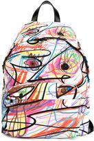 Jeremy Scott scribbled backpack