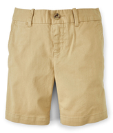Ralph Lauren Fall Khaki Stretch Chino Bermuda Shorts - Toddler & Girls