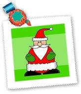 3dRose LLC qs_6175_5 Janna Salak Designs Christmas - Cute Jolly Santa Claus - Quilt Squares