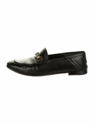Gucci Horsebit Accent Leather Loafers Black