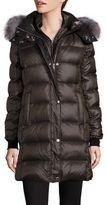 Andrew Marc Fox Fur-Trim Down Puffer Coat