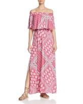 Show Me Your Mumu Printed Off-the-Shoulder Maxi Dress