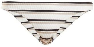 BEIGE Asceno - Low-rise Striped Bikini Briefs - Womens Stripe